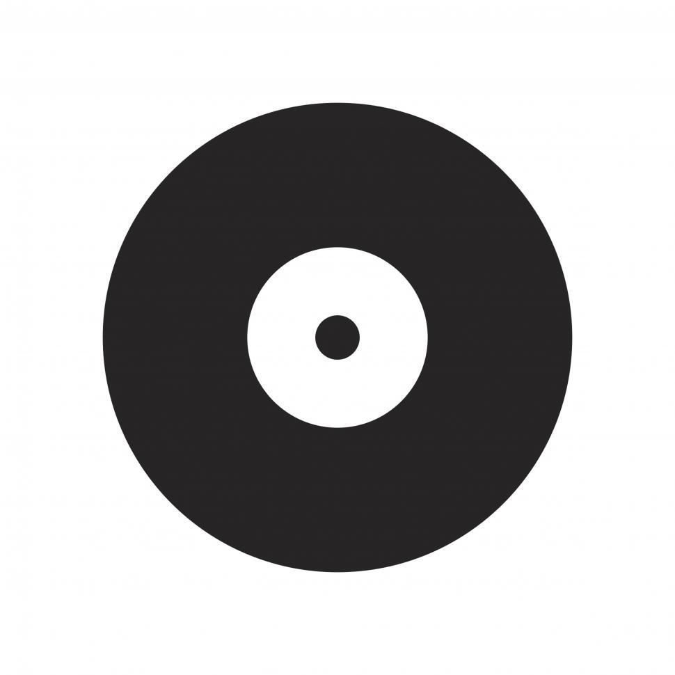 Download Free Stock HD Photo of Vinyl record vector icon Online