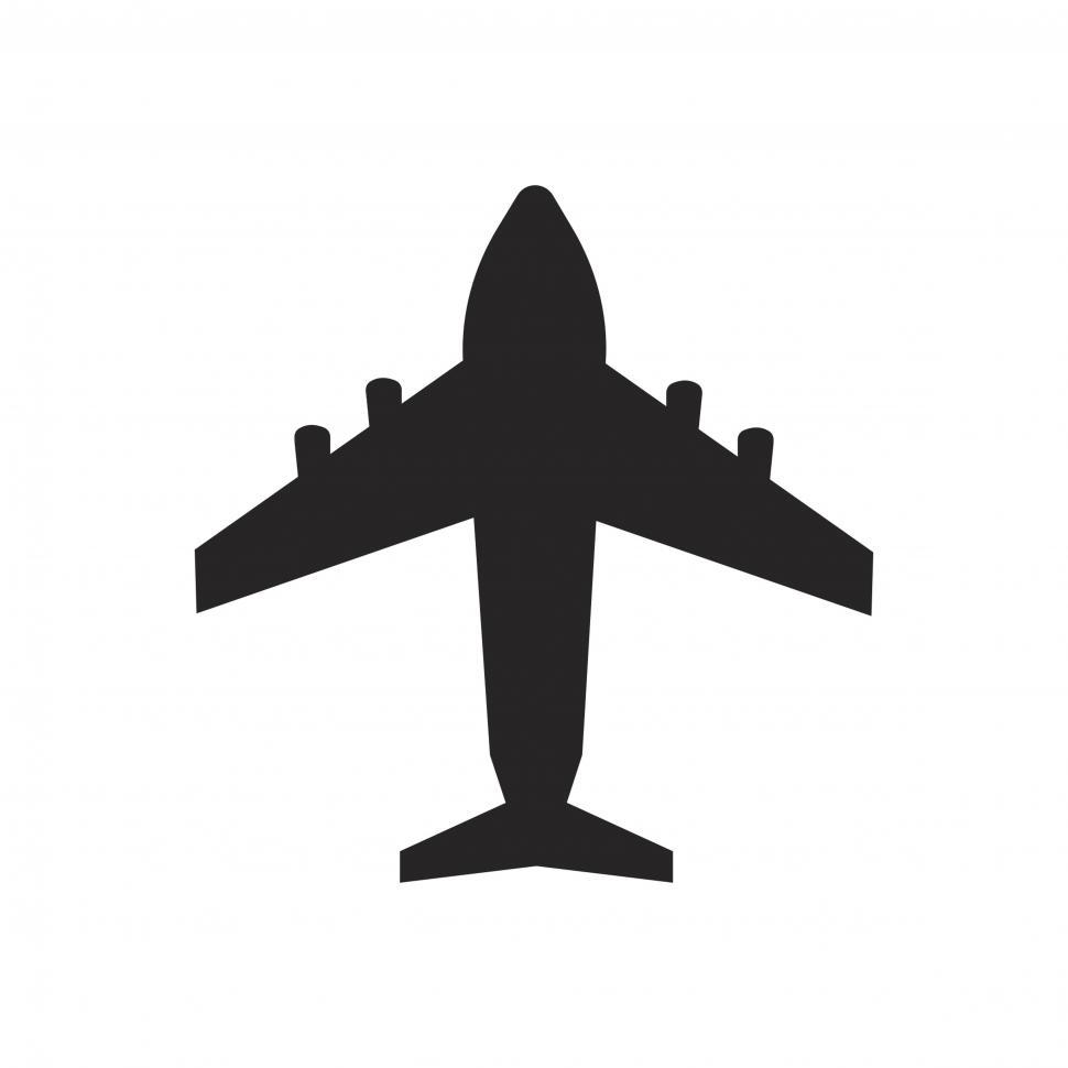 Download Free Stock HD Photo of Airplane vector icon Online