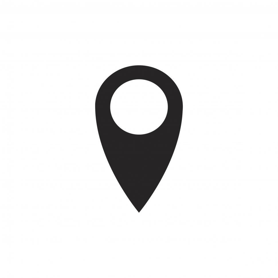 Download Free Stock HD Photo of Location pin vector icon Online