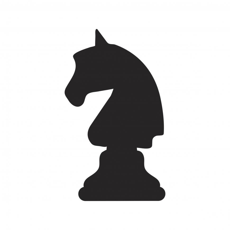 Download Free Stock HD Photo of The knight chess piece vector icon Online