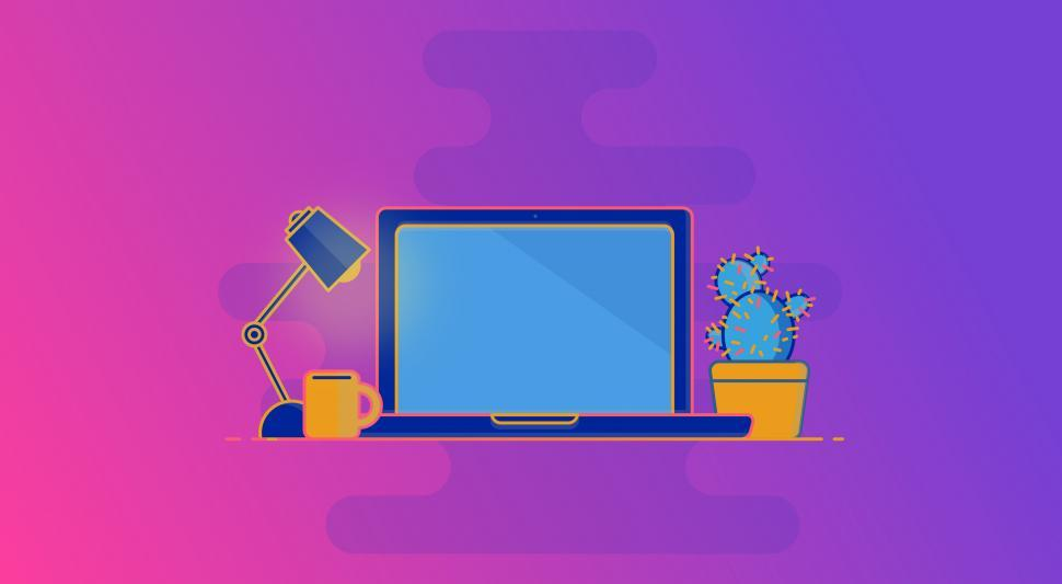 Download Free Stock HD Photo of Laptop on Desk - Working at Home Concept - Workspace Online