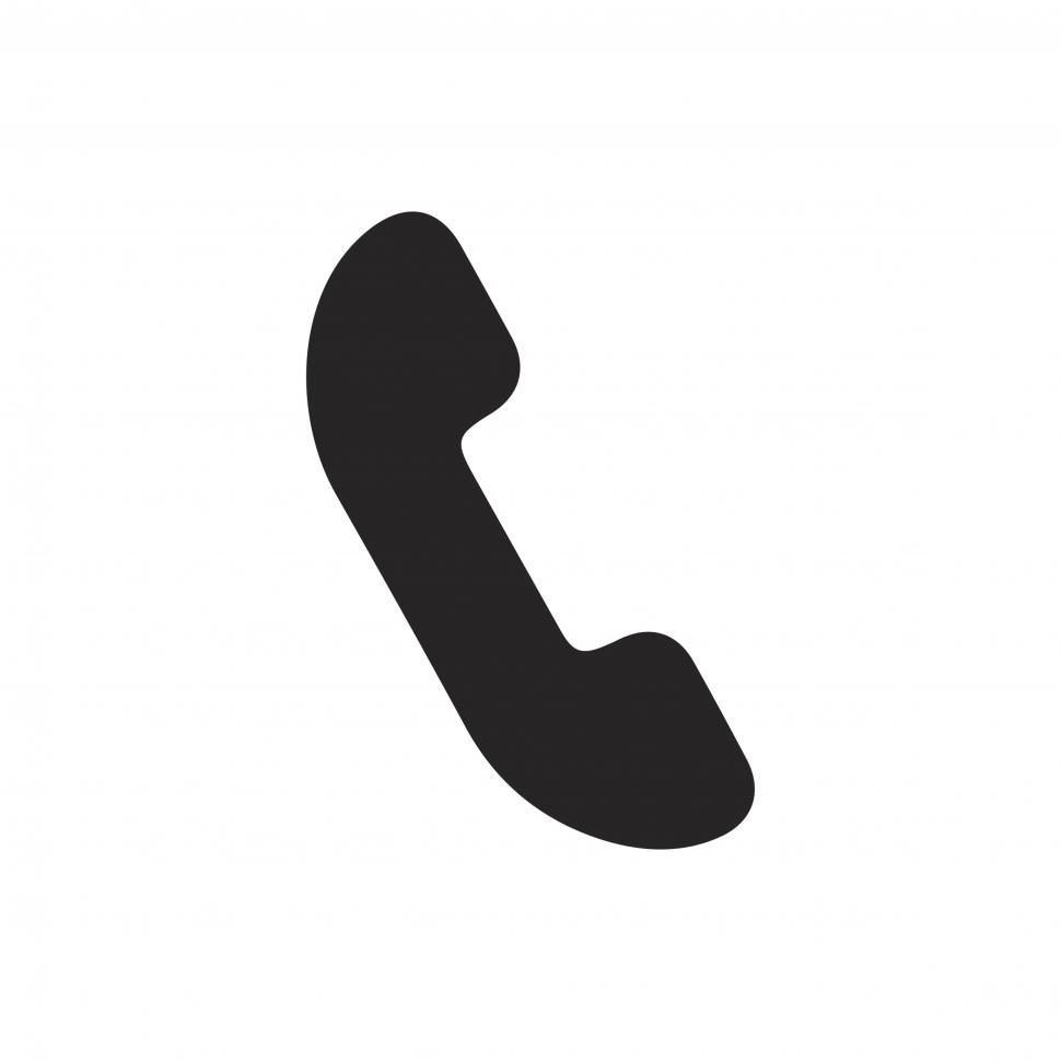 Download Free Stock HD Photo of Telephone receiver vector icon Online