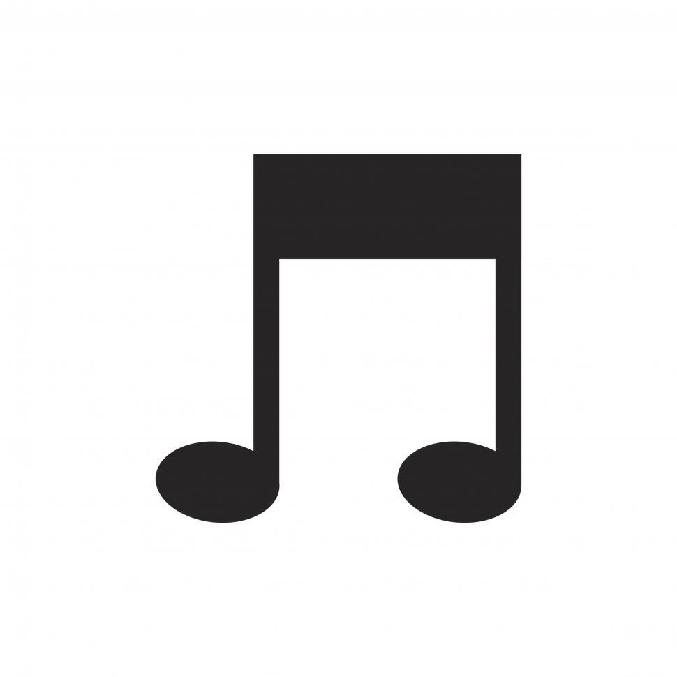 Download Free Stock HD Photo of Musical note symbol vector icon Online