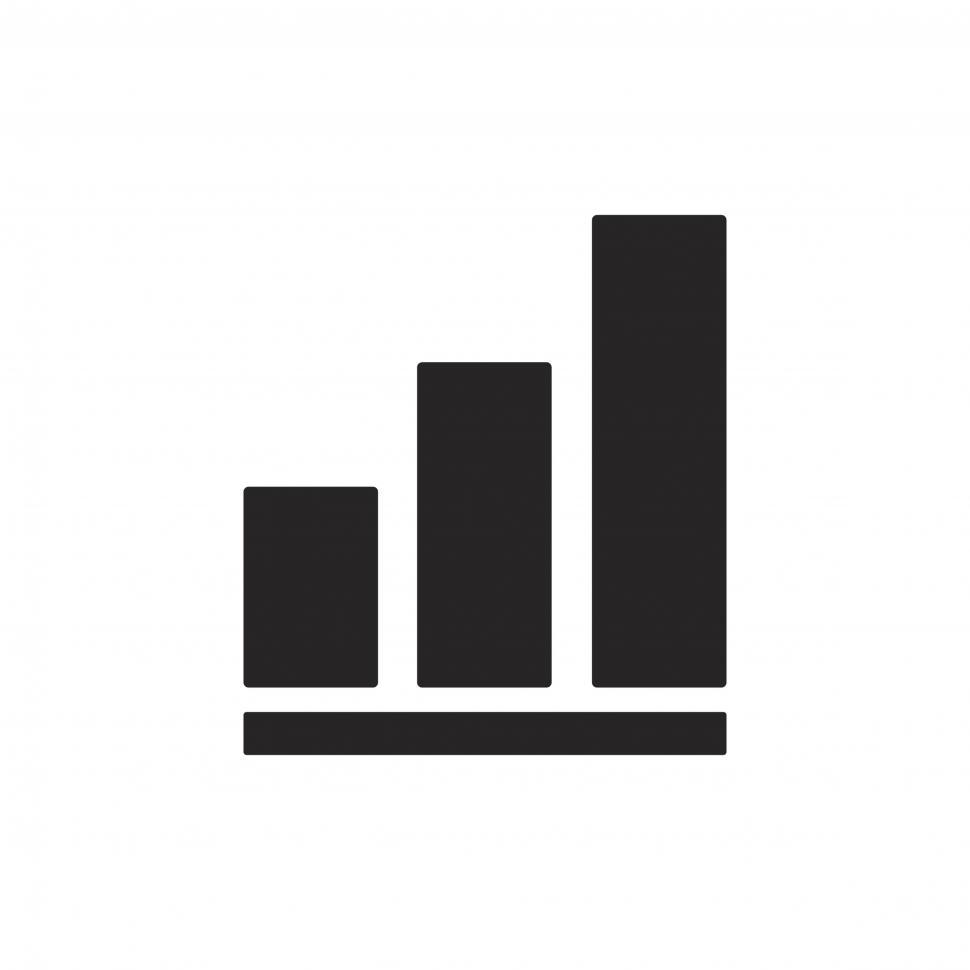 Download Free Stock HD Photo of Bar graph vector icon Online