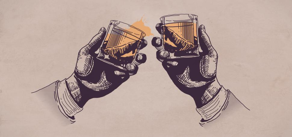 Download Free Stock HD Photo of Toast - Cheers - Drinking - Liquor - Hands Raising Glasses - Cel Online