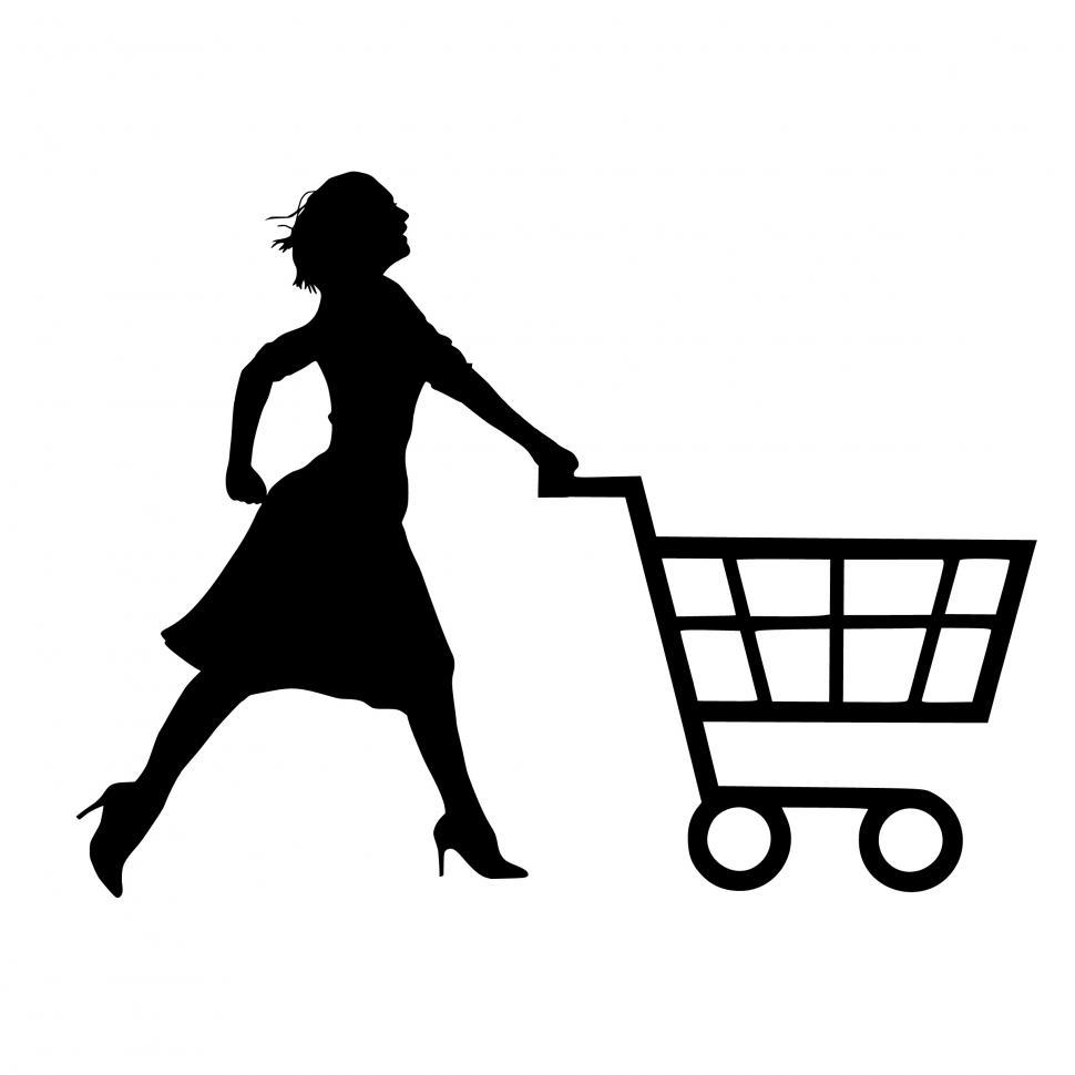 Download Free Stock HD Photo of woman shopping Silhouette  Online