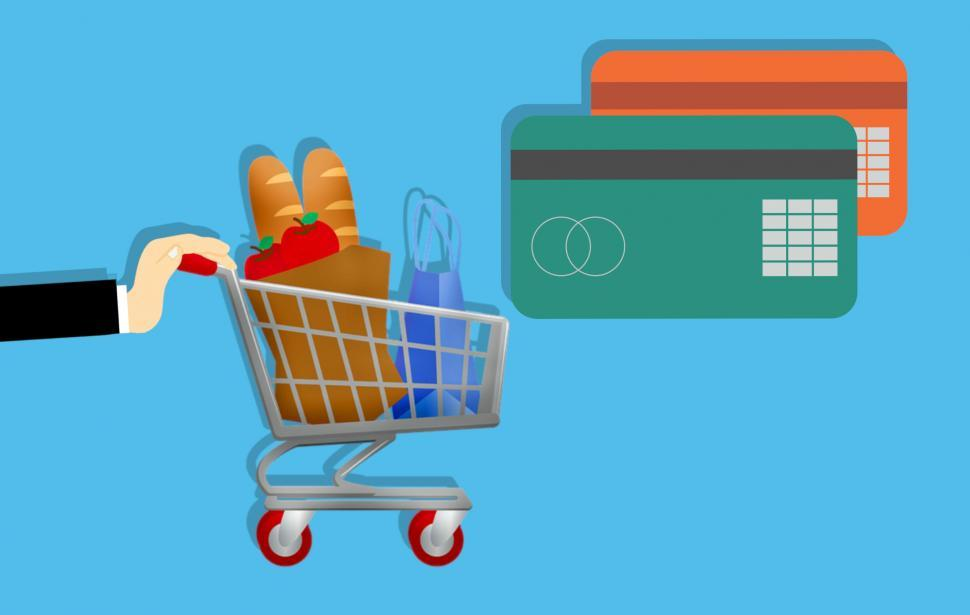Download Free Stock HD Photo of Shopping credit card  Online