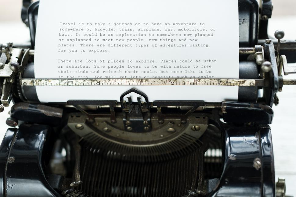 Download Free Stock HD Photo of Typed paper on an antique typewriter Online