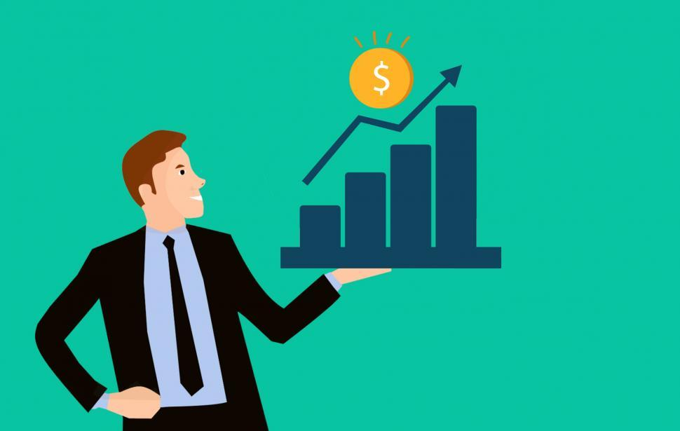 Free Stock Photo of business man chart   Download Free Images and Free Illustrations