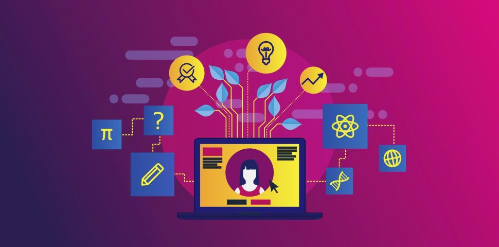 Download Free Stock HD Photo of Online Education Concept - Vivid Colors Online