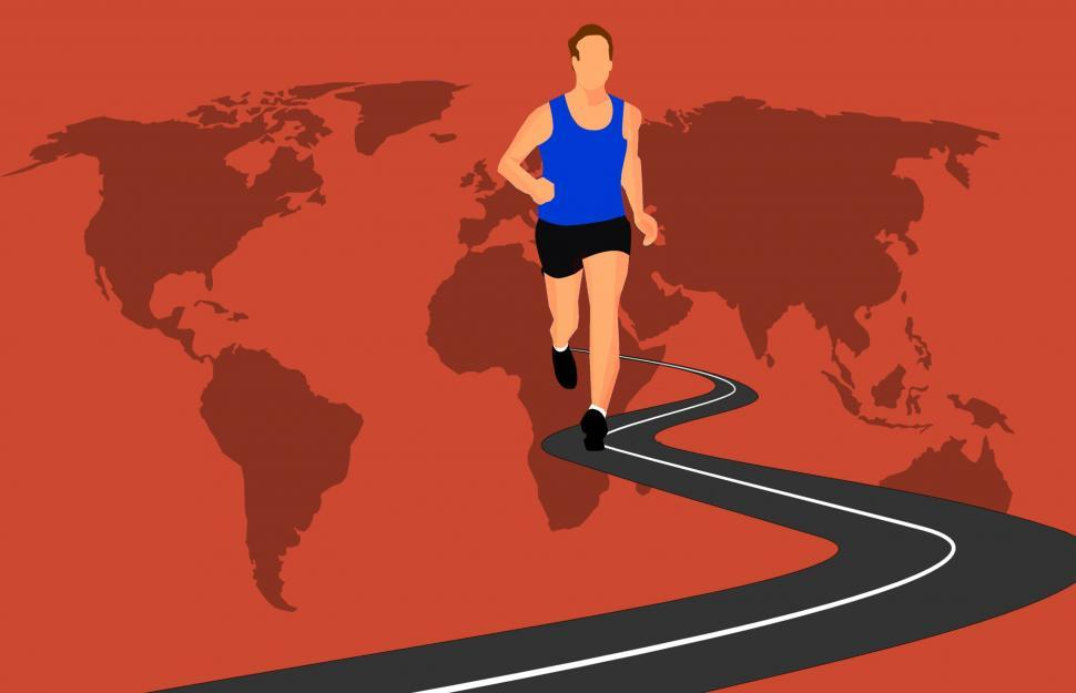 Download Free Stock HD Photo of World marathon  Online