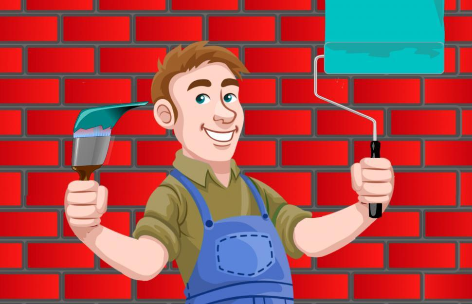 Download Free Stock HD Photo of House painter  Online
