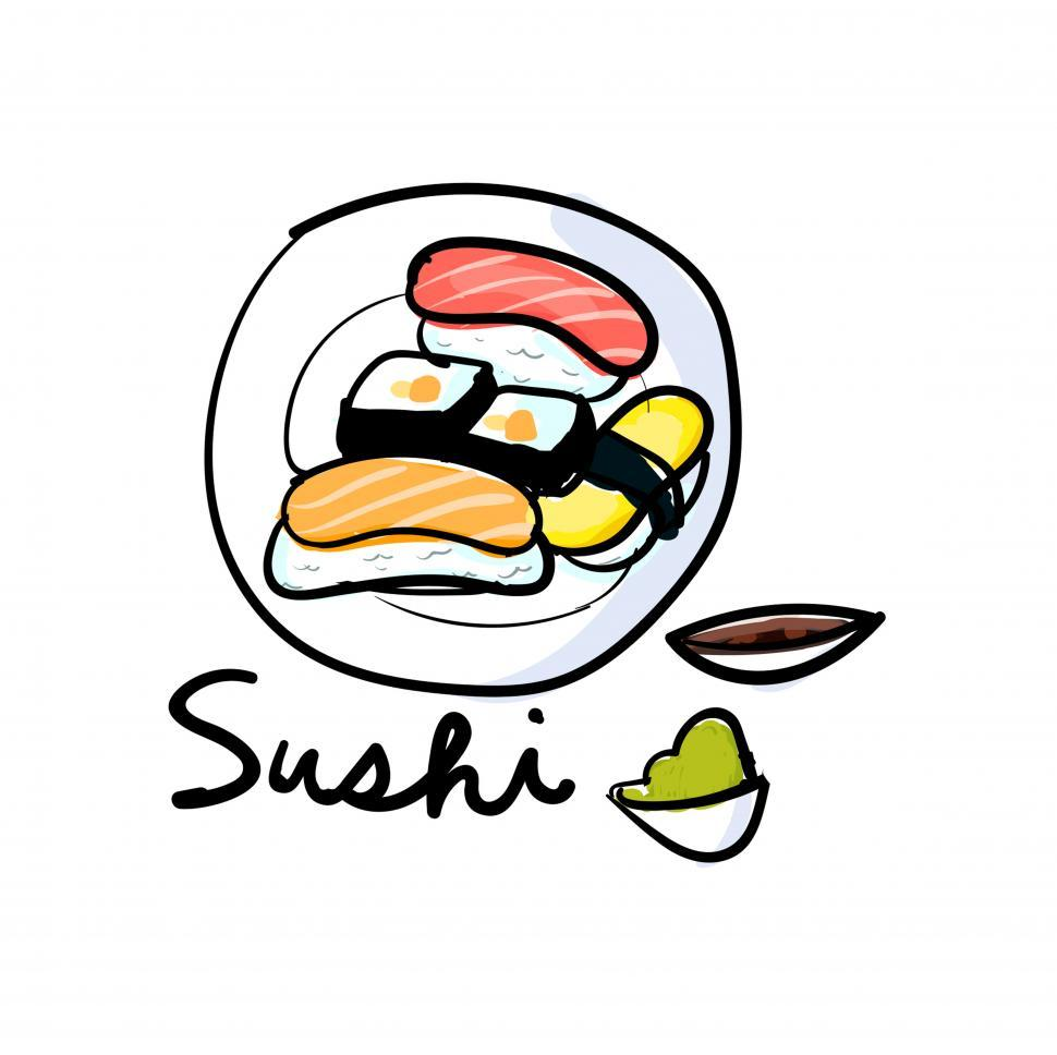 Download Free Stock HD Photo of Sushi vector icon Online
