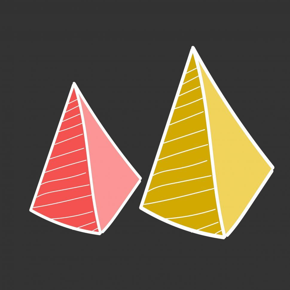 Download Free Stock HD Photo of Pyramid vector icons Online