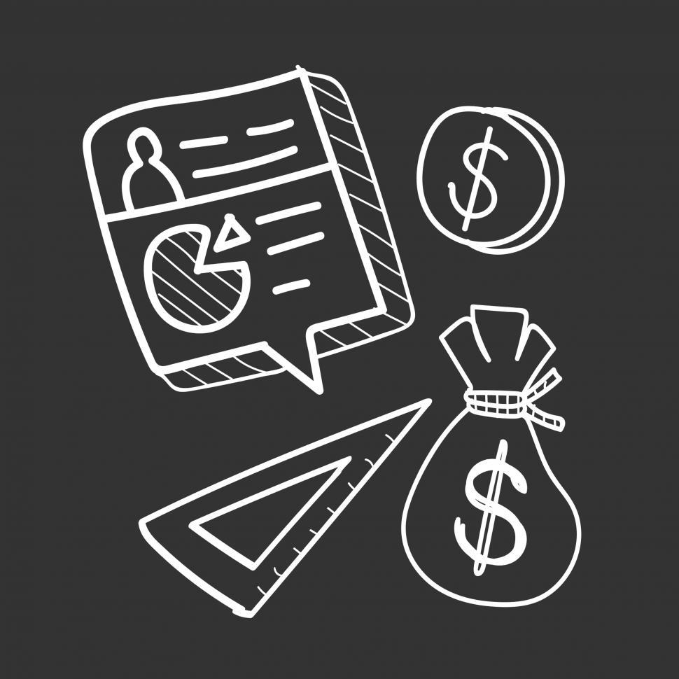 Download Free Stock HD Photo of Business and finance icons vector Online