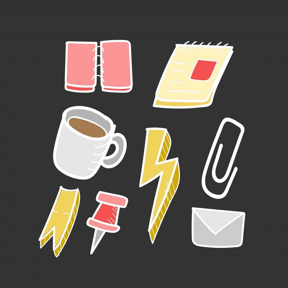 Download Free Stock HD Photo of Office stationery items vector Online
