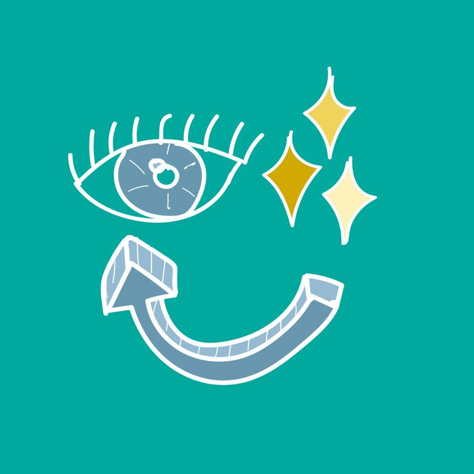 Download Free Stock HD Photo of Eye and arrow virtual reality vector Online