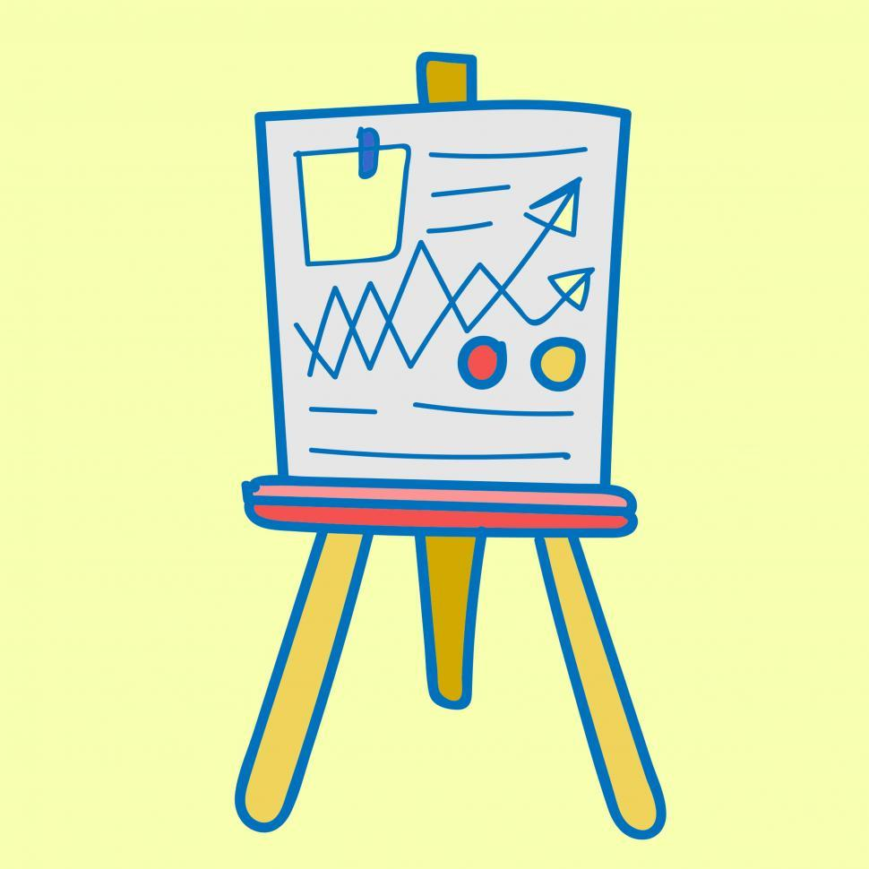 Download Free Stock HD Photo of Whiteboard icon vector with graph presentation Online