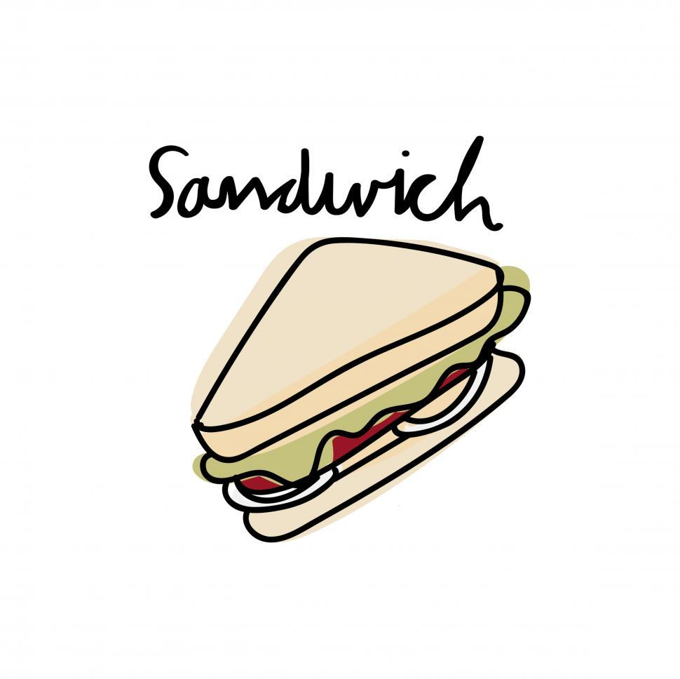 Download Free Stock HD Photo of Sandwich vector icon Online