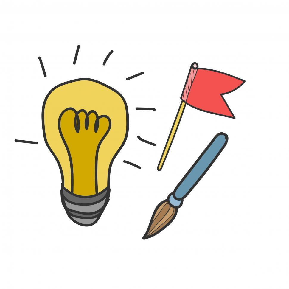 Download Free Stock HD Photo of Idea and strategy icon vector Online