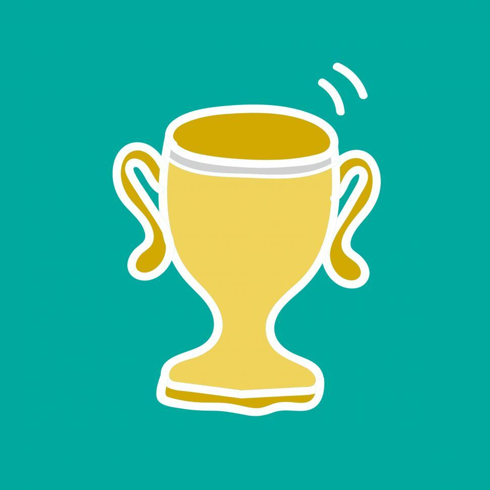 Download Free Stock HD Photo of Trophy cup vector icon Online