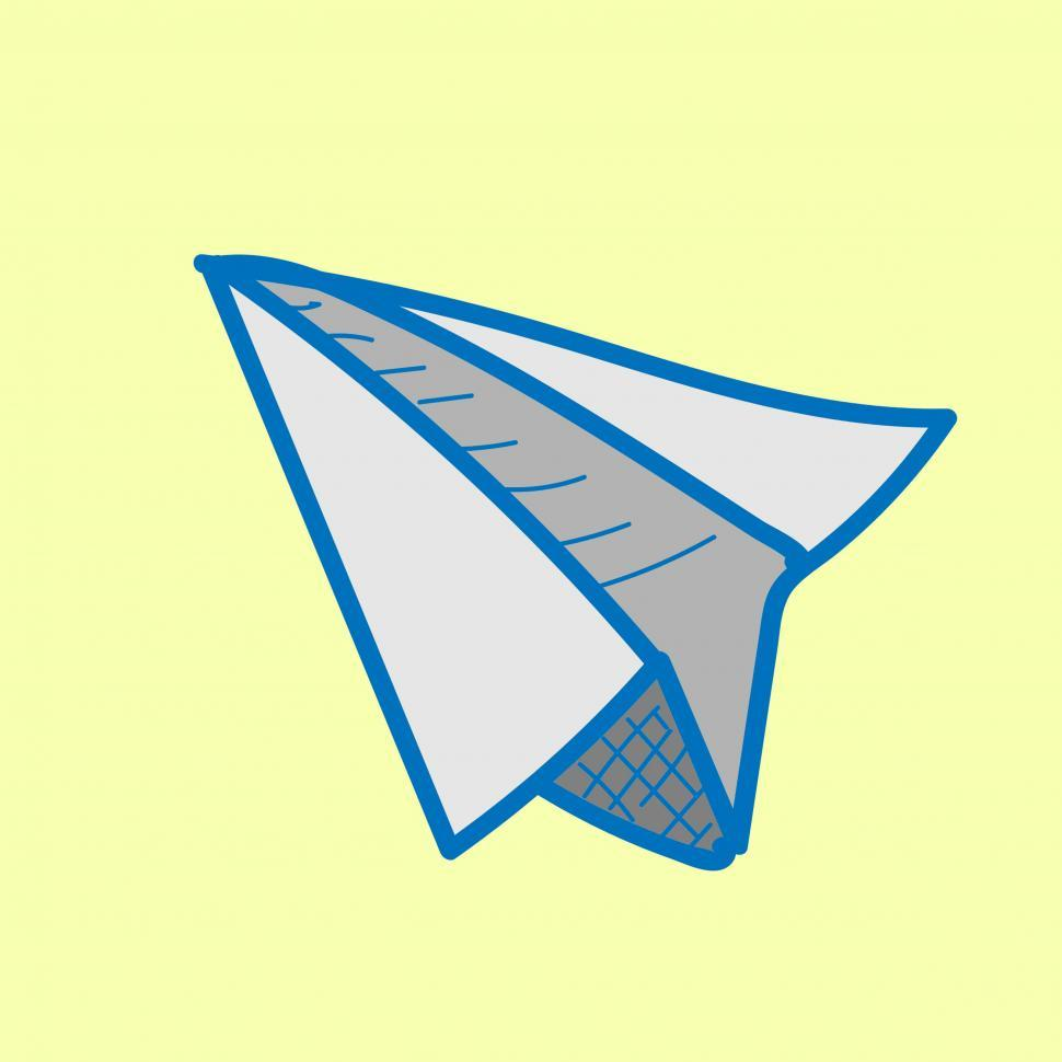 Download Free Stock HD Photo of Paper plane icon vector Online
