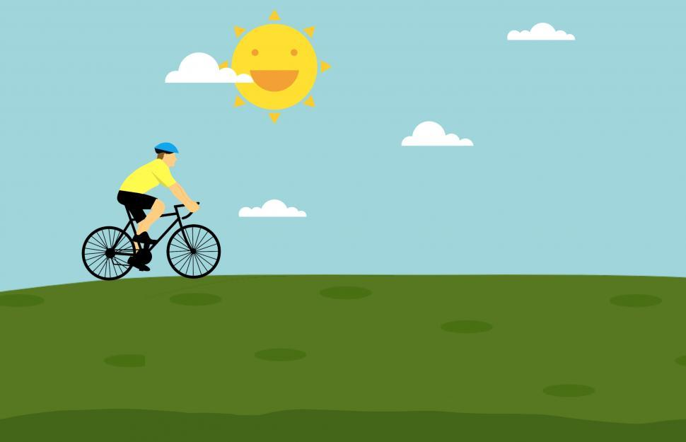 Download Free Stock HD Photo of Cycling on hill  Online