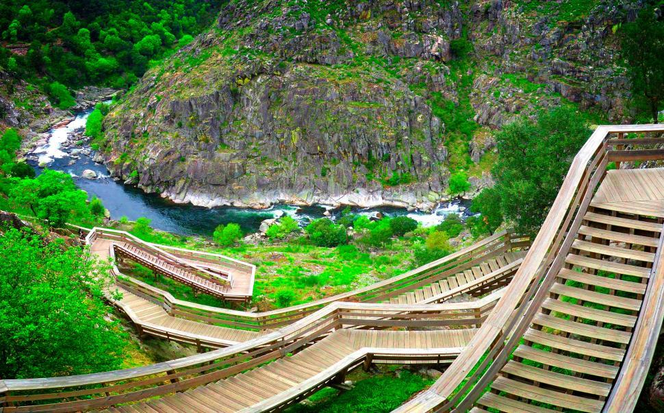 Download Free Stock HD Photo of Paiva Walkways - River Paiva - Northern Portugal Online