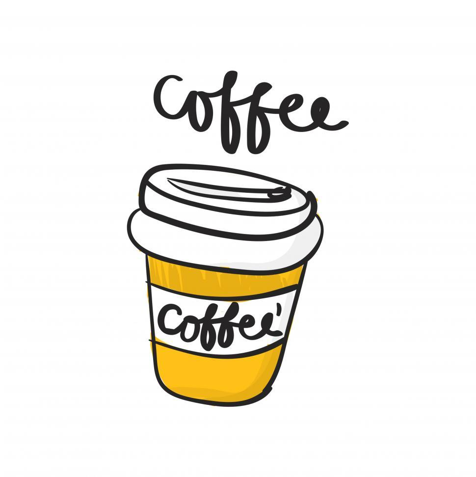 Download Free Stock HD Photo of Disposable coffee mug vector icon Online