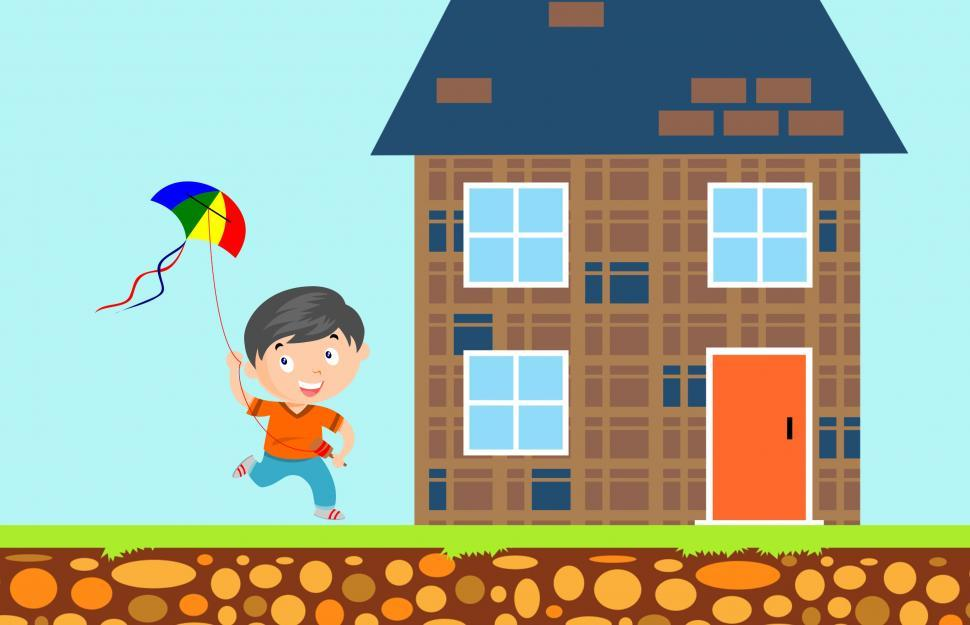 Download Free Stock HD Photo of Boy flying kite  Online