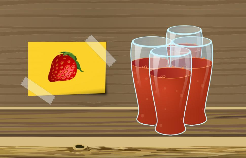 Download Free Stock HD Photo of Strawberry juice  Online