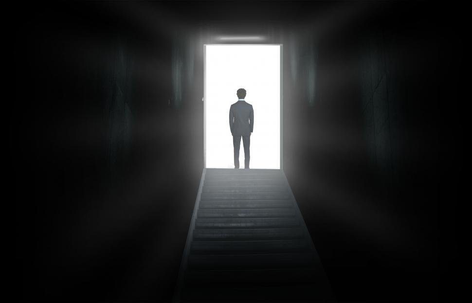 Download Free Stock HD Photo of Businessman Facing The World - Into the Unknown Online