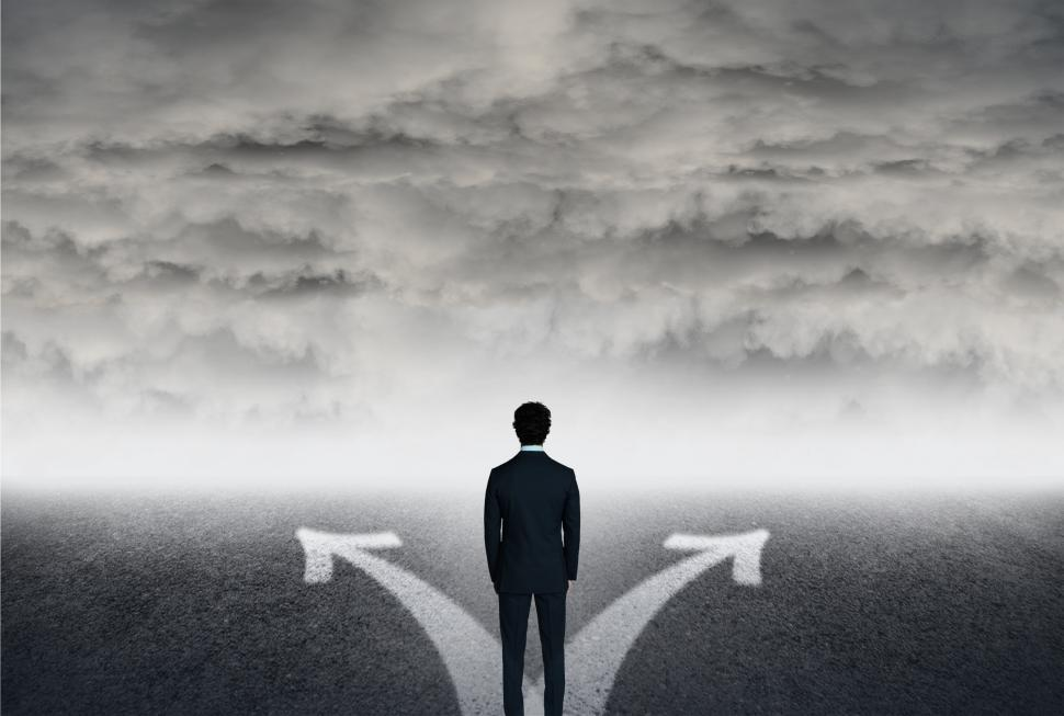 Download Free Stock HD Photo of Which Way to Go - Life Choices - Man Facing Choices Online