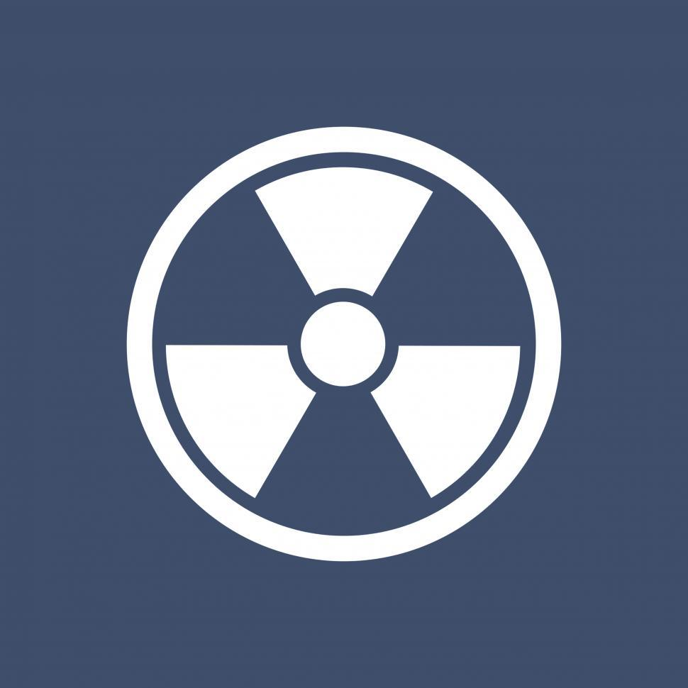 Download Free Stock HD Photo of Radiation vector icon Online