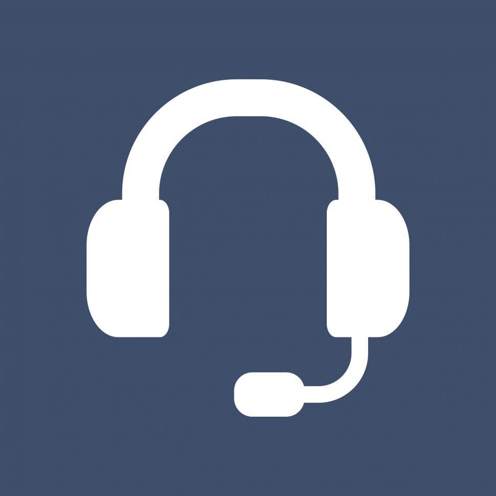 Get Free Stock Photos Of Customer Support Headset Icon Vector Online Download Latest Free Images And Free Illustrations