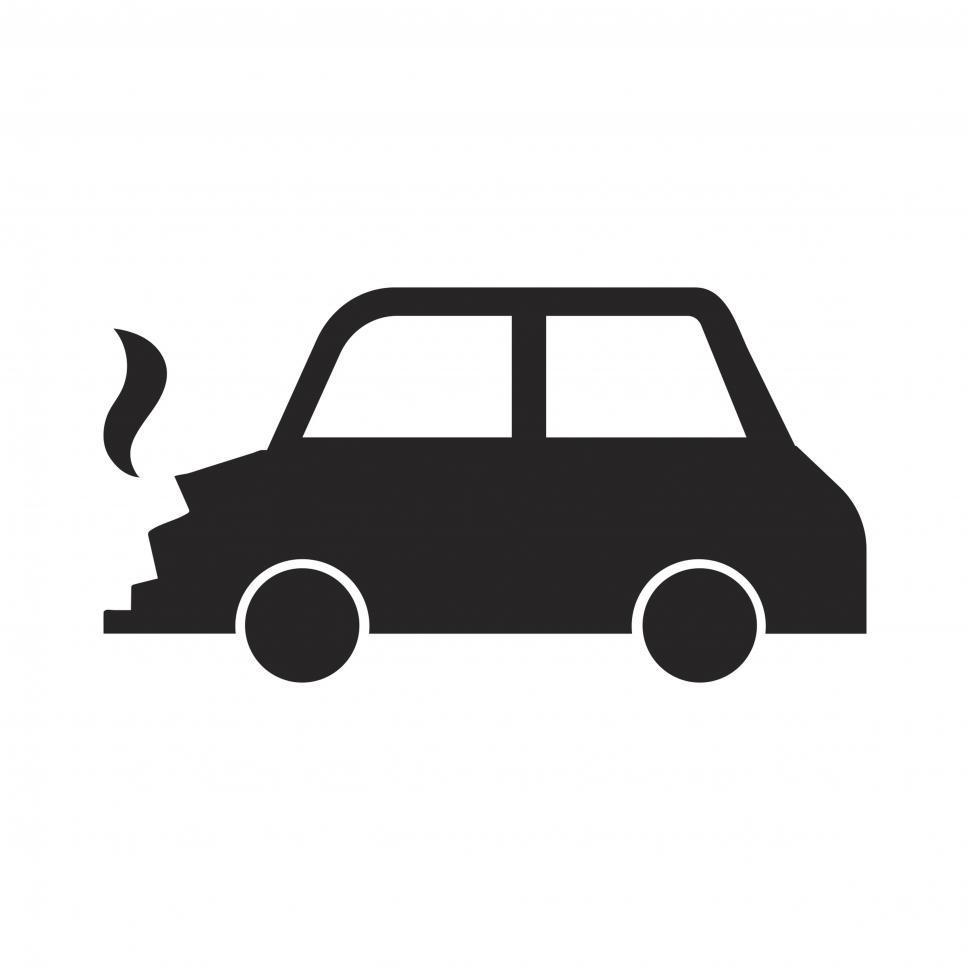 Download Free Stock HD Photo of Broken car vector icon Online