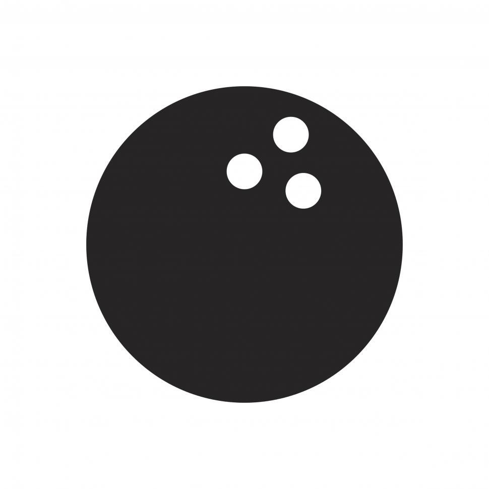 Download Free Stock HD Photo of Bowling vector icon Online