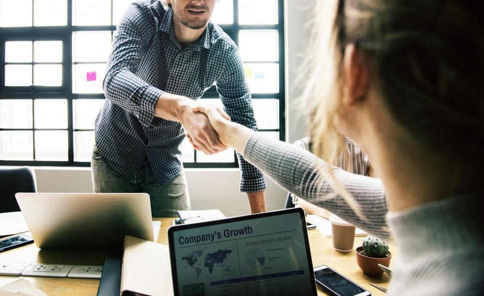 Download Free Stock HD Photo of Agreement handshake between two people Online