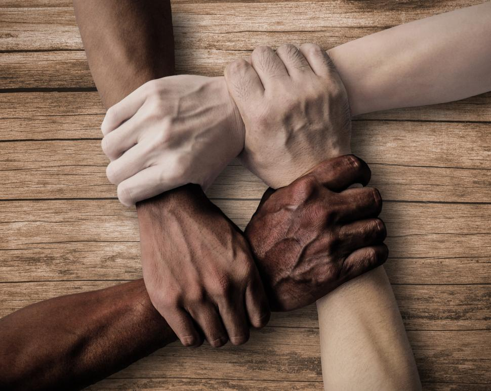 Download Free Stock HD Photo of Union - Teamwork - Inclusiveness - Wood Background Online