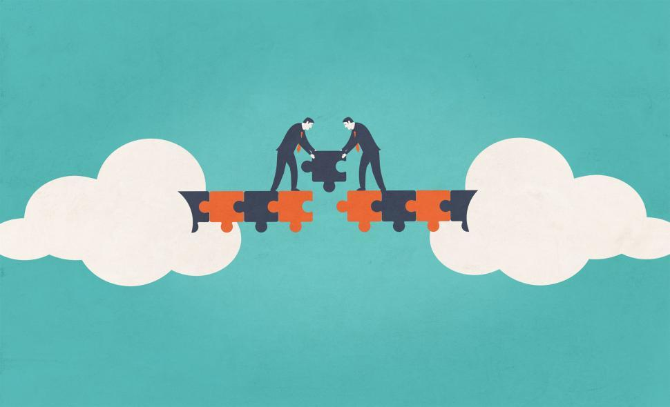 Download Free Stock HD Photo of Establishing Bridges - Business Cooperation Online