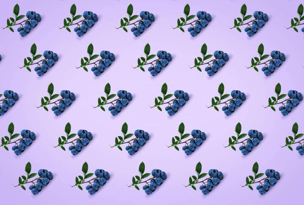 Download Free Stock HD Photo of Healthy Eating - Blueberries - Abstract Pattern Online