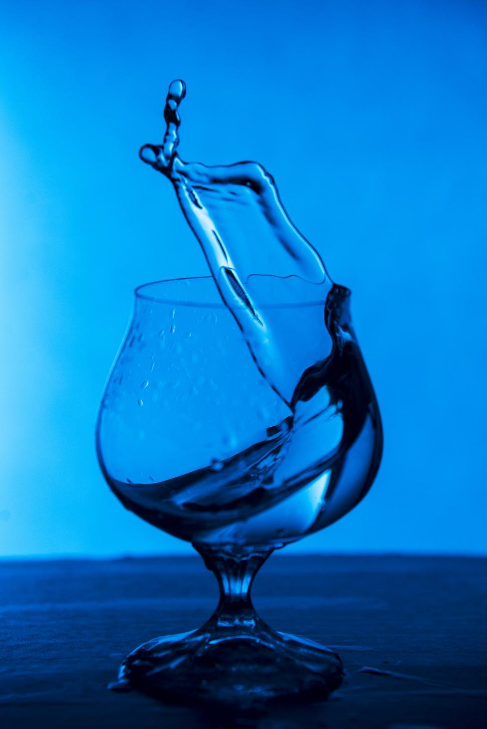 Download Free Stock HD Photo of Glass of Water Splash Online