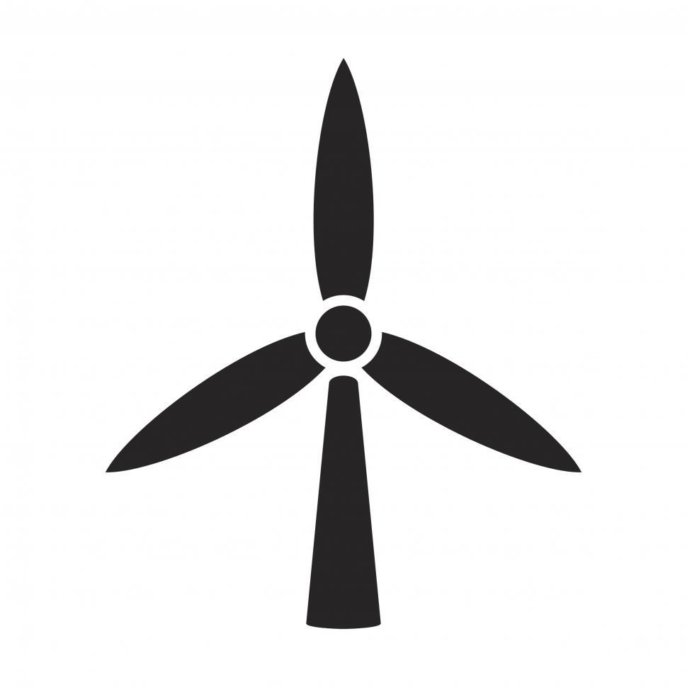 Download Free Stock HD Photo of Windmill vector icon Online