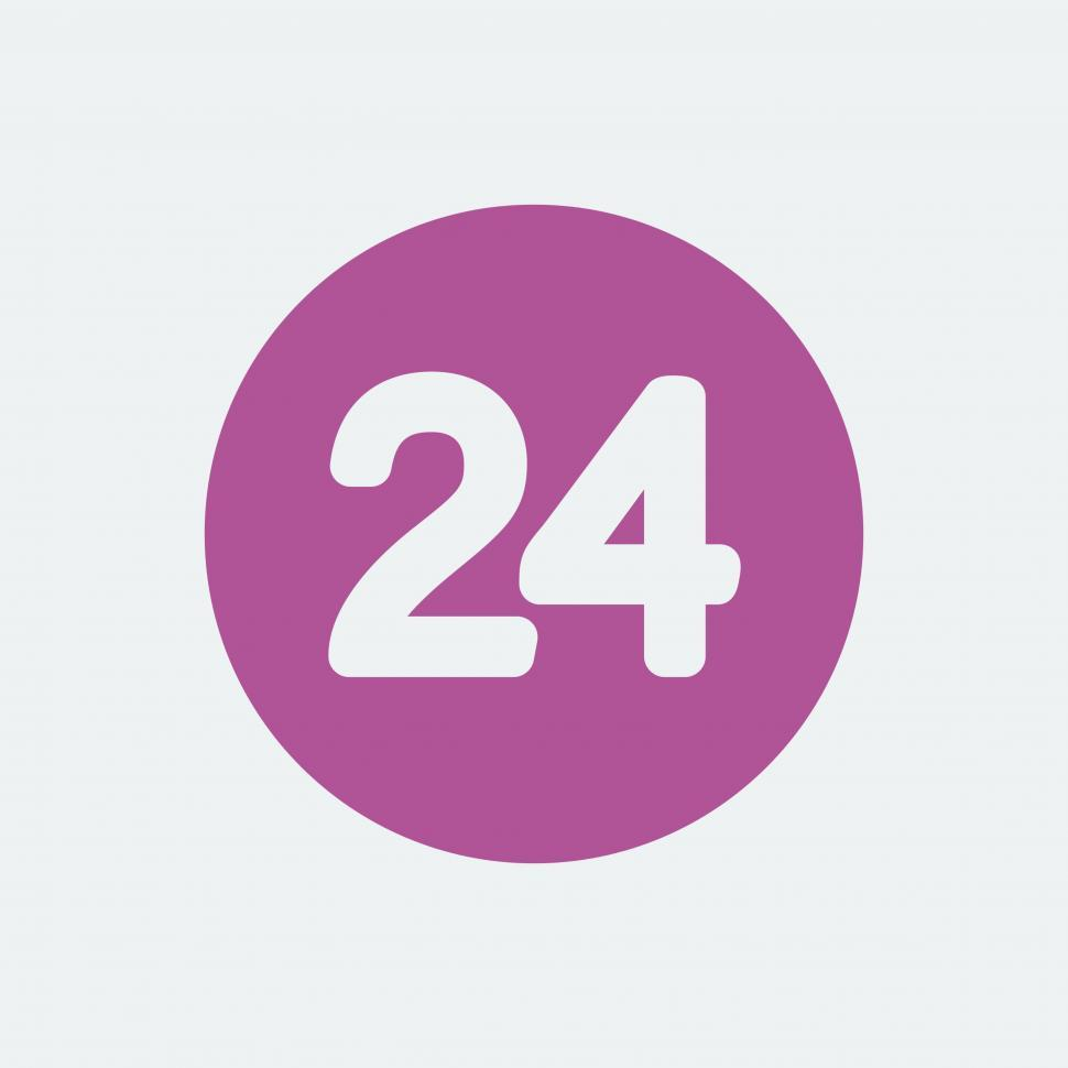 Download Free Stock HD Photo of Twenty Four hour vector icon Online