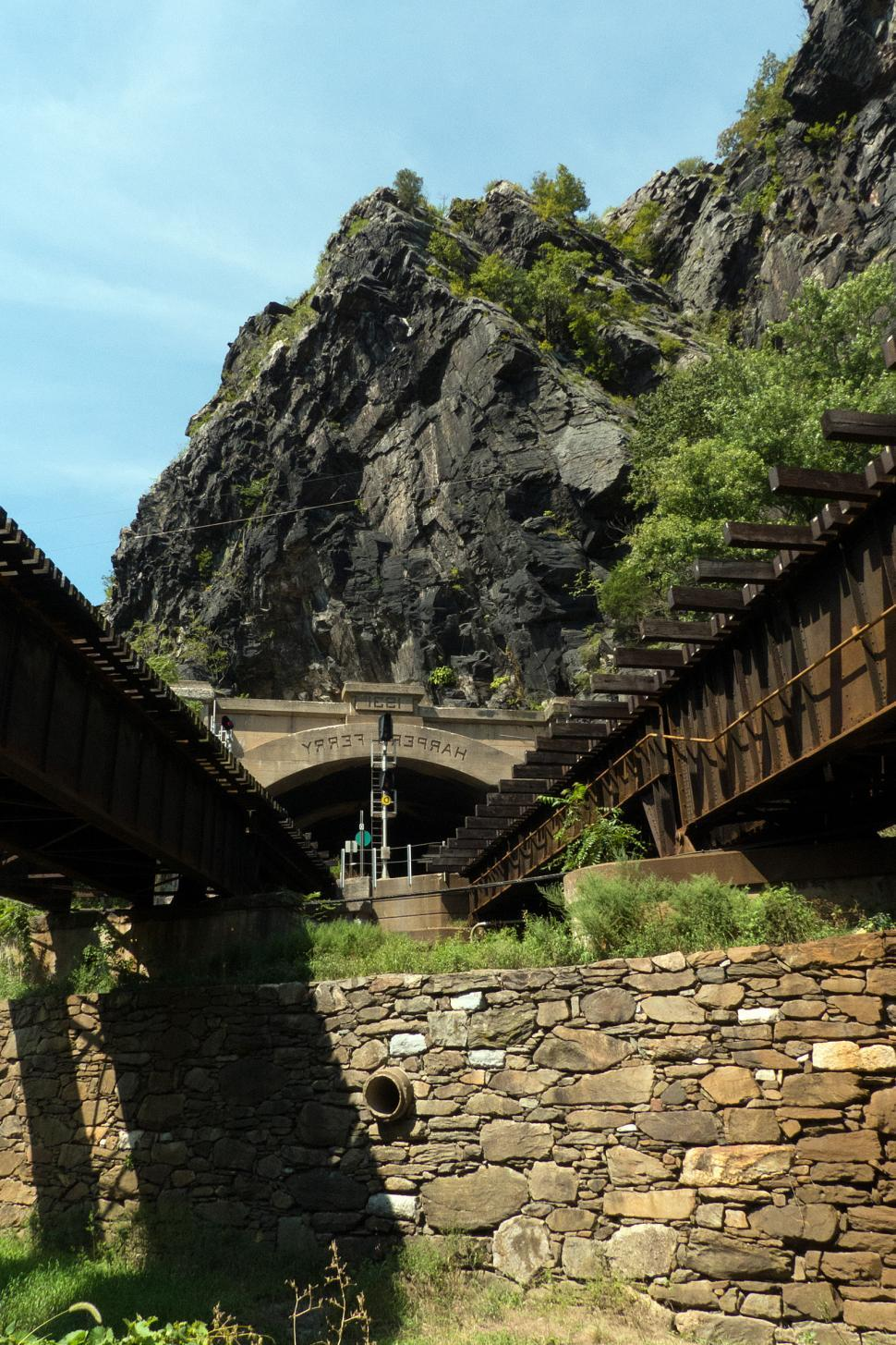 Download Free Stock HD Photo of Maryland Heights Tunnel Harpers Ferry Online