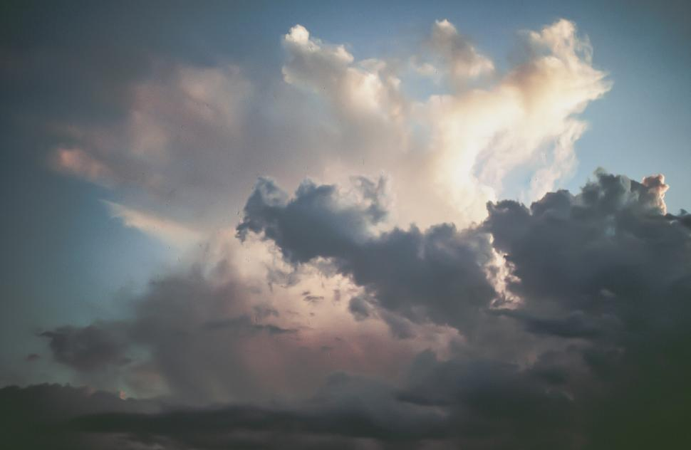 Download Free Stock HD Photo of Clouds  in Sky of Subtle Colors Online