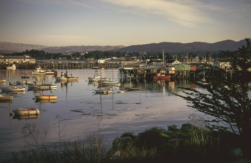 Download Free Stock HD Photo of Harbor full of Fishing boats Online