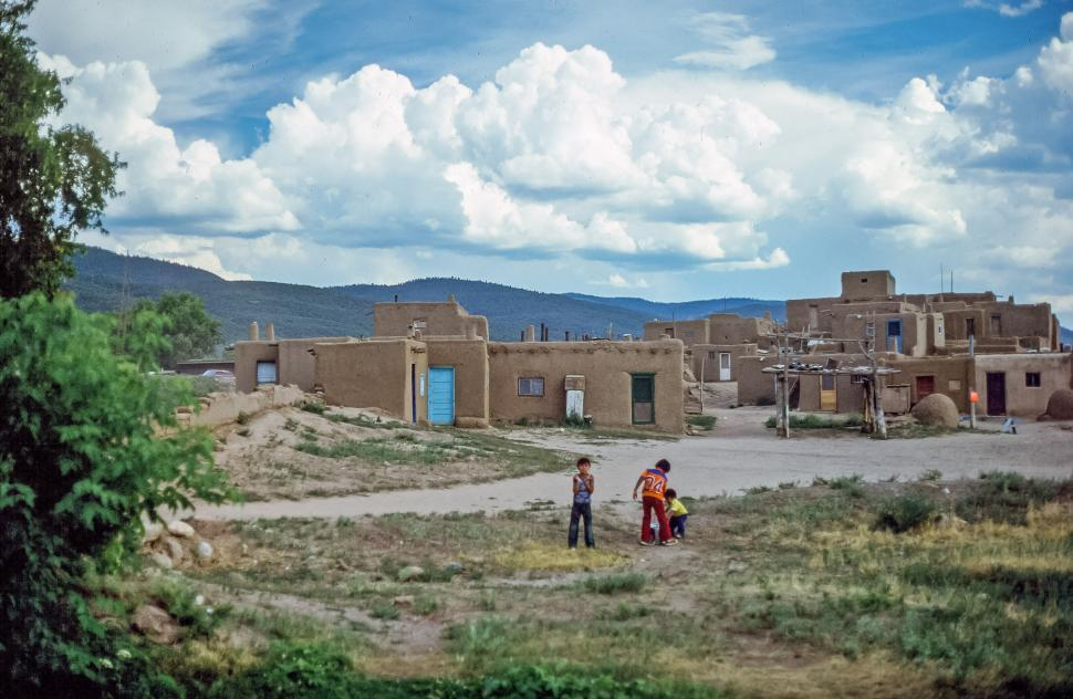 Download Free Stock HD Photo of Three Puebloan Children Online