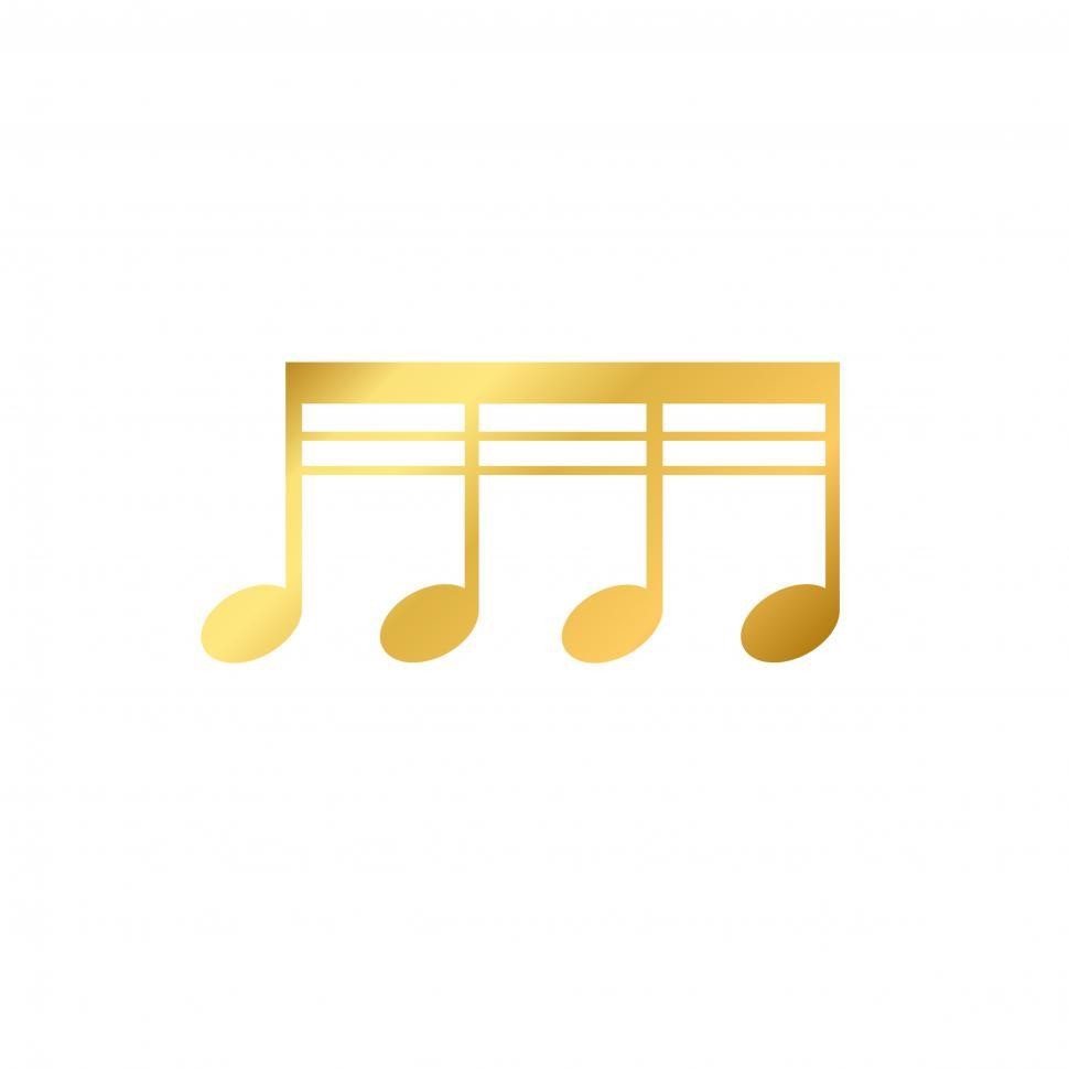 Download Free Stock HD Photo of Musical notes on white background Online