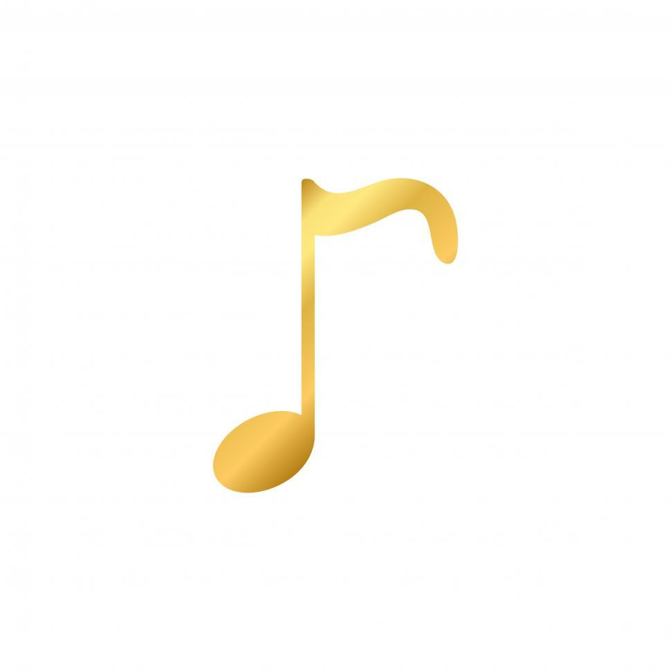 Download Free Stock HD Photo of Musical note vector on white background Online